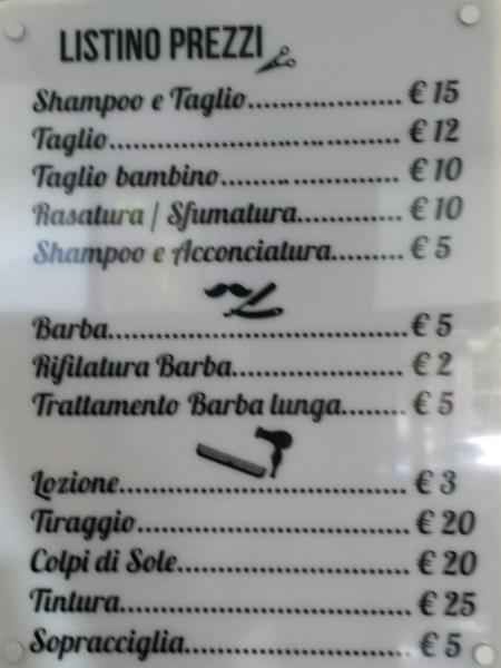 Prezzo medio taglio capelli uomo